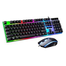 Teclados ergonômicos on-line-Teclado jogo ergonômico kit mouse 3d anti-derrapante rainbow LED conjunto de equipamentos para ps4 xbox one
