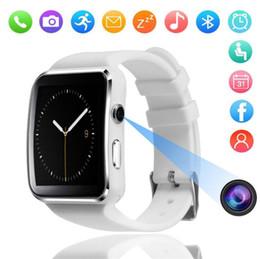 relógio pedômetro bluetooth para crianças Desconto X6 relógio inteligente 1.54 polegada tela colorida 2.5D curvo pedômetro monitor de sono cartão Bluetooth relógio esportivo PARA: IPHONE Samsung