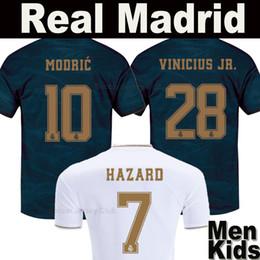9588790d 2019 2020 HAZARD Real Madrid soccer jersey 19 20 JOVIC MILITAO VINICIUS away  blue Champions football shirts EA Sports MODRIC SERGIO RAMOS