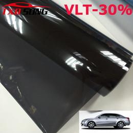 50x300 см Светло-Черный Окно Автомобиля Тонировочная Пленка Стекло VLT 30% Roll 1 PLY Авто Дом Коммерческая Солнечная Защита Лето Свободный корабль от