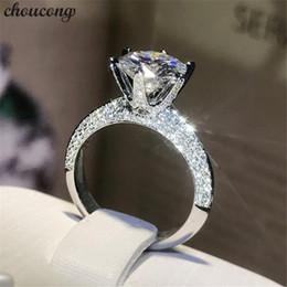jóias cheias de ouro chinês Desconto Choucong Handmade 100% Real 925 anel de Prata esterlina Rodada 0.8ct Zircon Anéis de Noivado Wedding Band Para As Mulheres homens Bijoux S18101608