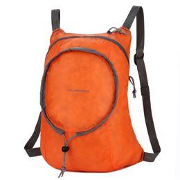 Borsa a tracolla arancione online-Borsa pieghevole per il tempo libero Entrambe le spalle Pacchetto Uomo Donna Super Light Water Proofing Camping Comodo arancione nero Resistente 15cj C1