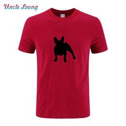 Botas francesas online-2019 camisetas de diseñador para hombre French Bulldog Silhouette O Neck T Shirt Hombres algodón manga corta camiseta gafas de sol jerseys botas