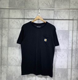 Nero hong kong online-Hot 2019 T-shirt a maniche corte Kharin Carhartt Script di Hong Kong Tee in nero nella taglia S-2XL