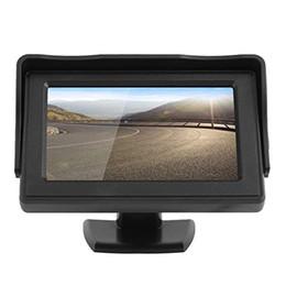 2019 cámara de respaldo dvr 4.3 Monitor TFT LCD de visión trasera del coche DVD GPS para la reserva del revés de la cámara de conducción del vehículo Accesorios rebajas cámara de respaldo dvr