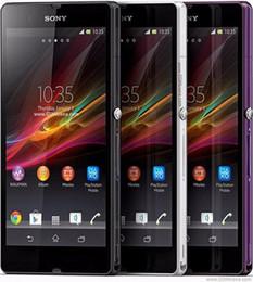 """Original sony xperia z l36h c6602 c6603 5.0 """"desbloqueado gsm 4g lte wifi android quad-core celular 2 gb ram 16 gb rom remodelado telefone móvel de Fornecedores de quad core 4.5 celular"""
