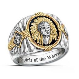 2019 золотые кольца мальчика Хип-хоп двухцветный 925 серебряные мужчины золотые кольца Буффало никель ювелирные изделия кольцо мужские Desinger кольца мода личность подарок для человека размер 7-12