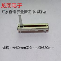 2019 original-leistungsrelais [BELLA] Mono B10K 60mm Qualitätsmischer 6CM direkt Schiebepotentiometer Lautstärkeregler B100K B50K B10K Länge 20MM-20PCS / LOT