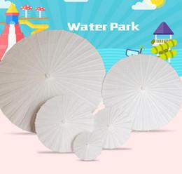 parapluies d'artisanat d'art Promotion Peinture bricolage papier parapluie à la main sagesse enfants à la main maternelle Art peinture dessin parapluie bricolage artisanat jouet KKA6880