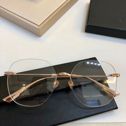 6efbf811d0e Discount big round eyeglass frames - 2019NEW D06 Concise lightweight glasses  gold pure-titanium rimless big