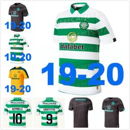 Camisas de futebol marrom on-line-Celtic BITTON BROWN Rogic camisa de futebol 2019 2020 CHRISTIE casa longe Celtic FC camisa de futebol thai qualidade 19 20 novo topo