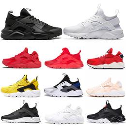 big sale d8d35 d3b18 Nike Air Huarache OFF WHITE 2019 Marke Ultra Huarache Run 1,0 4,0 Streifen Schwarz  Grau Bronzine Laufschuhe Neue Männer Frauen Huaraches Designer Sport ...