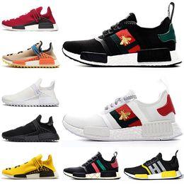 Zapatos de mujer online-adidas nmd r1 gucci Zapatillas de running Human Race TR Pharrell Williams Hu Trail OG Classic XR1 para hombre Mujer Triple S Negro A Zapatillas