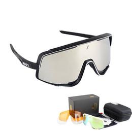 ciclo óculos preto amarelo Desconto Polarizada Ciclismo Óculos De Sol Dos Homens MTB Bicicleta Equitação Esportes Ao Ar Livre Ciclismo Óculos De Sol Eyewear 3 Lens Da Bicicleta Óculos