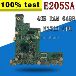 x58 motherboards Rabatt E205SA Motherboard N3700 CPU 4 GB RAM 64 GB Für ASUS E205S E205SA Laptop Motherboard Mainboard TEST OK