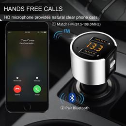 melhor mp3 player portátil usb Desconto Carro Bluetooth Transmissor FM Dual USB Portas Carregador de Carro FM Modulador de MP3 Player de Música Transmissor de Áudio Chamada Handsfree