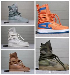 3ec40bda60ce Fear of God Special Field Mid SF Forces Hi Ultra Hight Top Military  Sneakers Men s and Women s Genuine Leather Casual Running shoe