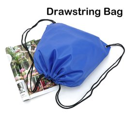 plain waterproof swim bags Promo Codes - 39*34cm Solid Color Thick Waterproof Drawstring Bag Double Shoulder Storage Bag Sports Backpack 9 Colors Portable String Bag Free DHL M33F