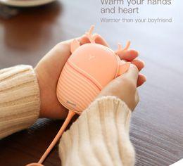 Mini calentadores online-Calentador calentador de la mano del cojín de calefacción del USB del calentador del calentador práctico recargable de bolsillo mini dibujo animado calentador eléctrica caliente con la lámpara