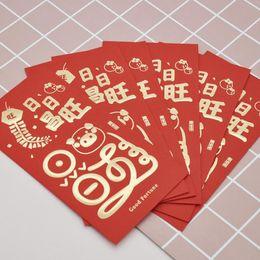 pack cadeau du nouvel an chinois Promotion 6 Pcs / pack Mignon 2019 Tradition chinoise Hongbao Dessin animé Animal Cochon Rouge Enveloppes Enfants Nouvel An Rouge Pochette Enveloppe En Papier Cadeau