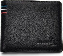 importierte brieftaschen Rabatt Casuh Imported Leather Wallet Black 3 verschiedene Arten HB-001282255