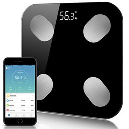 smart body scale Promo Codes - Body Fat Scale Floor Scientific Smart Electronic LED Digital Weight Bathroom Scales Balance Bluetooth APP Android IOS