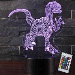 Grand cadeau enfants jouets lampe Touch Control 3D LED Night Light série Dinosaure 30 modèles LED Table showroom Lampe décoration base arrière ? partir de fabricateur
