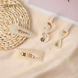 New Fashion Pearl Heart Clip di capelli Coda di cavallo per le donne 3psc / set Strumenti per lo styling dei capelli belli Accessori per capelli Clip di cristallo Elegante forcella da