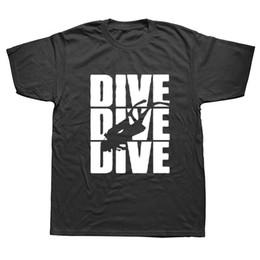 2019 preto do estilo dos homens camiseta Evolução Mergulhador Mergulho Engraçado Preto T-shirt Dos Homens Novos Projetos de Verão Estilo Algodão Camiseta Top Tees preto do estilo dos homens camiseta barato