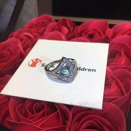 2019 anello in zaffiro blu argento anello di diamanti con zaffiro blu anello da donna di design bohémien con anello in argento sterling fatto a mano con gioielli sconti anello in zaffiro blu argento