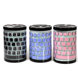 Складные кабели онлайн-Креативная мода складной портативный USB-кабель мягкая клавиатура пылезащитный водонепроницаемый немой ноутбук настольная силиконовая игровая клавиатура умный офис