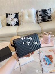 Molle zig zag online-2019 primavera donne in stile classico borsa a tracolla borse a tracolla moda catena borse donna designer Diamond Lattice v Zig Zag