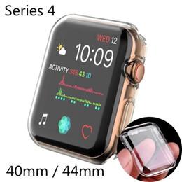 2019 smart watches ultra dünn Uhrenabdeckung für Apple-Uhrengehäuse 40 mm, 44 mm, Serie 4, weiches, schlankes TPU, ultradünnes, transparentes Displayschutzgehäuse, Uhrenzubehör rabatt smart watches ultra dünn