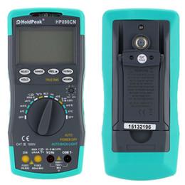 Multimètres en Ligne-Multimètre Numérique LCD DMM avec Détecteur NCV Voltmètre Courant Alternatif Compteur Résistance Diode Testeur de Capaticance Mesure de la température Multimètres