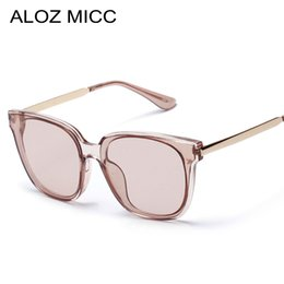 b4e1ccb5fa1 ALOZ MICC 2019 Classic Fashion Women Men Sunglasses Square Frame Clear  Lenses Gray and Brown New Style Lady Glasses uv400 A264