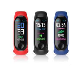 Pulso monitor de ritmo cardiaco iphone online-M3 Pulsera Inteligente Frecuencia Cardíaca Monitor de Presión Arterial Pulso Pulsera Gimnasio OLED Tracker Reloj Para iPhone Xiaomi Huawei