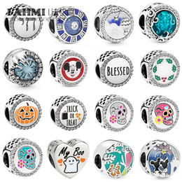 Mistura de contas millefiori on-line-FAHMI 100% de Prata 925 Sterling Happily Ever After Fogos Charme abóbora Mixed esmalte claro CZ Lady presente encanto Bead