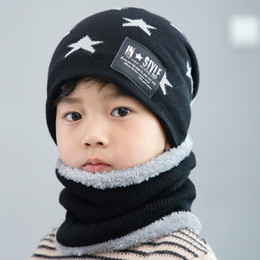 b778a65920ecd Men Boy Pentastar Windproof Warm Sports Children Adult Hat Fashion Winter  Knitting Wool With Scarf Outdoor