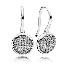 stilvolle sterling silber ohrringe Rabatt 100% 925 Sterling Silber Stilvolle Branded Ohrring Für Frauen Blendende Tröpfchen Hängende Ohrringe Feine Europa Schmuck Geschenk Original
