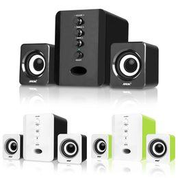 Deutschland 3 Stück Kombinationslautsprecher USB-Kabel Computerlautsprecher Bass Stereo Musik-Player Subwoofer Soundbox für PC-Smartphones D200T Versorgung
