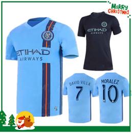 Chalets jersey online-Camiseta de fútbol de la ciudad de Nueva York 2019 19 20 MLS LAMPARD 8 PIRLO 21 MCNAMARA MORALEZ DAVID VILLA 7 camisetas de fútbol de calidad