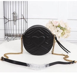 7d318505a8 gucci bags 2019 - Marmont mini round shoulder bag Luxury Newest Designer bag  Genuine leather fashion