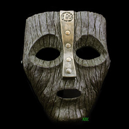 Trajes de deus on-line-Jim Carrey Máscara de Carnaval Veneziano Cameron Diaz Loki Resina Máscaras O Deus da Malícia Masquerade Réplica Traje Cosplay Adereços