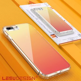 LEEU DESIGN новый градиент цвета прозрачный противоударный тпу прозрачный жесткий задний акриловый чехол для мобильного телефона чехол для iphone x xs макс. от