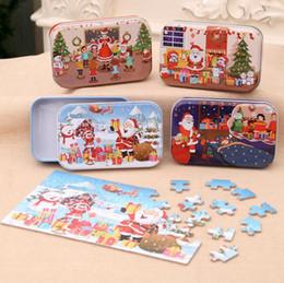 kinder spielzeug paket Rabatt Holzpuzzle Kinder Spielzeug für Kinder Weihnachtsgeschenk frühen Lernspielzeug 3D-Druck Holzpuzzle Eisen-Box-Paket Parteibevorzugung