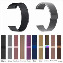 Transparente iwatch online-Edelstahl Metallschlaufe Smart Uhrenarmband für Apple Watch 44 mm / 42 mm / 40 mm / 38 mm iwatch Serie 4 3 2 Magnetisches verstellbares Armband