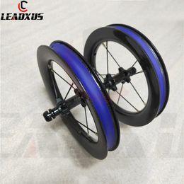 Argentina Ruedas de carbono para bicicleta deslizante LEADXUS Rodamiento de tracción recta de 12 pulgadas BMX Juego de ruedas de carbono para bicicleta de equilibrio para niños 85 mm 95 mm BMX 28 * 25.8 mm Suministro