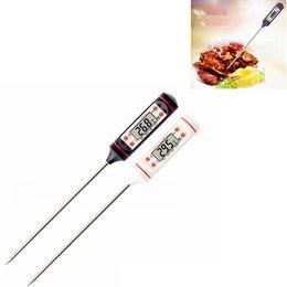 Doce de água on-line-Termômetro de Carne digital de Grau Alimentício LCD Habor BBQ Hold Função para Cozinha ferramenta de Cozinha Grelha de Alimentos PARA CHURRASCO Carne Carne Doce Leite Água FFA2834