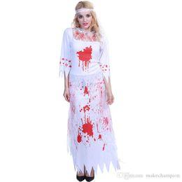costume della carne della carne Sconti I costumi Phantom Bride nuovo modo di Halloween Halloween spaventoso tuta puntelli manica lunga festa piena Stagewear