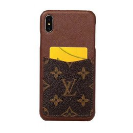 Дизайнерский чехол для телефона для iPhone 7 8 X XR XS Max Samsung Galaxy S8 S9 S10E S10 Plus Note8 Note9 с карманом для карты от